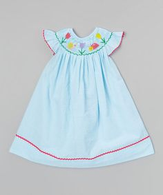 Loving this Turquoise Bugs Angel-Sleeve Dress - Infant, Toddler & Girls on #zulily! #zulilyfinds