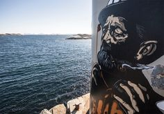 by Pøbel / Close-up / New piece in Lofoten, Norway - Lofoten, Norway Travel, Stavanger, Fishing Villages, Street Art Graffiti, Abandoned Buildings, Street Artists, Banksy, Urban Art