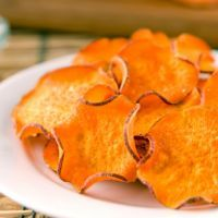 Sweet potatoes Crisps. Great snack for the fall.