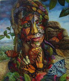 butterfly surreal artworks by ignacio nazabal. Read Full article: http://webneel.com/webneel/blog/15-mind-blowing-disney-paintings-thomas-kinkade-painter-light   more http://webneel.com/paintings . Follow us www.pinterest.com/webneel