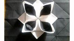 pliage de serviette en papier 2 couleurs en forme lotus nouvel an - YouTube