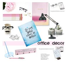 """""""Office Decor"""" by justmyworld ❤ liked on Polyvore featuring interior, interiors, interior design, home, home decor, interior decorating, Fringe, Bey-Berk, Home Decorators Collection and HAY"""