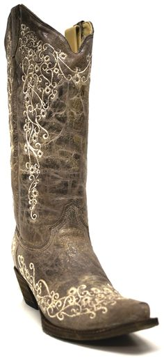 Women's Corral Boots - Bone Embroidery | southtexastack.com