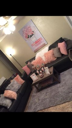 Pink living room decoration