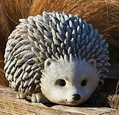 825 Pudgy Pals Weather Finished Hedgehog Outdoor Garden Statue Figure Click i Pottery Animals, Ceramic Animals, Clay Animals, Outdoor Garden Statues, Garden Figurines, Garden Animals, Concrete Crafts, Sculpture Clay, Ceramic Clay