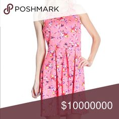 """🎉 ARRIVED 🎉 (S,M & L) Pink Floral Dress *Color: Pink. My phone can't pick up the exact color, it's not as dark as shown. It's a bit neon. *Condition:New (didn't come with tags)  *Material: 96% polyester 4% spandex  *Bust Size: Small- 29 inches. M-31"""". L- 33"""" *Length: Small- 34 inches long. M- 34"""". L- 35""""  ♥ Smoke free home.  ♥ I have cats and a dog. Dresses"""