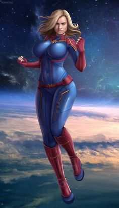 Captain Marvel by Flowerxl on DeviantArt Marvel Dc Comics, Marvel Comic Universe, Marvel Art, Marvel Heroes, Marvel Women, Marvel Girls, Comics Girls, Superhero Villains, Marvel Characters