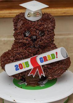 Teddy Bear Graduation Cake by Kat