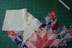 I mentioned here that I made a center block for three different medallion quilts. Two are Marcelle Medallion blocks from the medallion pattern in the Liberty Love book. The third was for the design as you go Medallion project we're currently working on with the Utah County Modern Quilt Group. For that block I decided to make a lone star [...] Beginner Quilt Patterns, Star Quilt Patterns, Quilting For Beginners, Pattern Blocks, Quilt Tutorials, Lone Star Quilt, Star Quilt Blocks, Star Quilts, Jellyroll Quilts
