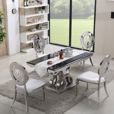 Ornate & Elegant Chelsea Dining Table with or without Chairs – Allissias Attic