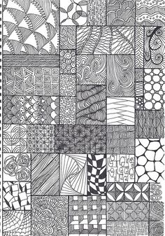 zentangle pattern sheet by *carolion*, via Flickr