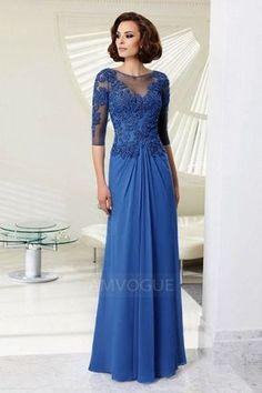 Sheath/Column Jewel Neck Floor-length Evening Dress With Appliques Lace Beading