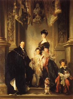 The Marlborough Family, 1905 by John Singer Sargent. Realism. portrait. Private Collection