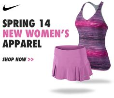 Shop the Nike Women's Spring 2014 apparel collection here: http://www.midwestsports.com/nike-womens-tennis-apparel/c/612/