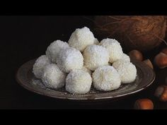 White Chocolate Coconut Truffles Recipe With Video Tutorial Candy Recipes, Baking Recipes, Sweet Recipes, Dessert Recipes, Yummy Recipes, Coconut Truffles, Chocolate Truffles, Coconut Brownies, Elegant Desserts