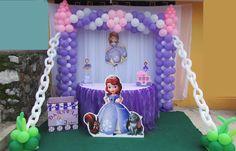 Decoracion de princesa sofia castillo globos