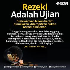 Com: Rezeki adalah ujian Islamic Quotes, Islamic Messages, Muslim Quotes, Islamic Inspirational Quotes, Motivational Quotes, Islam Religion, Islam Muslim, Islam Quran, Allah Quotes