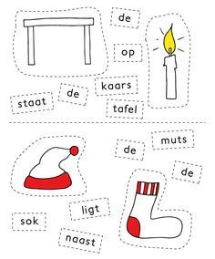 Uit de oude doos: Knipzinnen Kerst | De Onderwijsstudio Christmas Crafts, Xmas, Busy Boxes, Creative Teaching, Preschool Worksheets, Crafts For Kids, Kindergarten, Homeschool, Letters