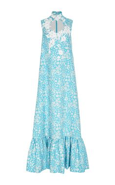 Sleeveless Embellished Jacquard Long Dress by DELPOZO for Preorder on Moda Operandi