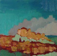 Al Qasr - Original abstract landscape - oil painting de MariaMazaPaintings en Etsy