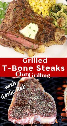 T Bone Steak Rub Recipe, T Bone Steak Marinade, Grilled T Bone Steak, Steak Rubs, Beef Steak, Easy Steak Recipes, Grilled Steak Recipes, Rub Recipes, Grilling Recipes