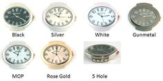 # 13072 5 Hole Beading Watch Face  1.8 inches x 1.4 inches