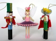 Nutcracker Clothespin People Ornaments -- It's a kit, but it could very easily be a DIY project with your own supplies.  Lauren would love this!