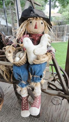 Scarecrow with Chicken