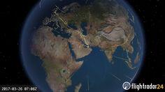 Urmăriți flota de avioane Airbus A380 Emirates într-o zi normală de zboruri (VIDEO)