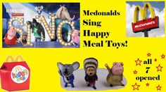 McDonalds Happy Meal Sing Toys