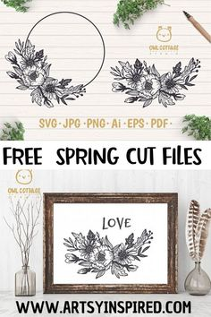 Free Spring SVGs and clip art | ArtsyInspired