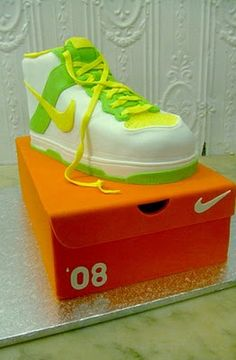 Nike Shoe Cake! Only I would want this as a birthday cake!
