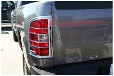 https://auto-truck-accessories.com/products/putco-chrome-tail-light-covers-400890 Very handsome addition to your Chevy Silverado. Fits 2007-2013. Dress up your ride!