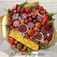 г. Киев, Оригинальные букеты (@lscompany.kiev) | Instagram photos and videos Food Bouquet, Organic Packaging, Edible Bouquets, Edible Arrangements, Happy Birthday Images, Holiday Cakes, Cake Boss, Fruit And Veg, Food Gifts