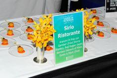 Sirio Ristorante served arancini di riso con gamberi with red pepper sauce at #TasteofSummer in #CentralPark