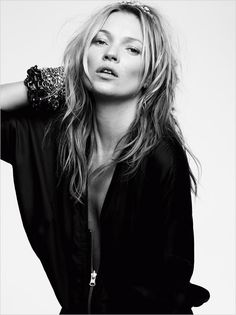Kate Moss for their Spring Summer 2014 campaign captured by Craig McDean.