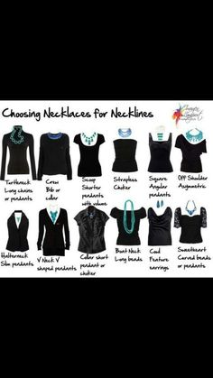 Matching necklines to necklaces