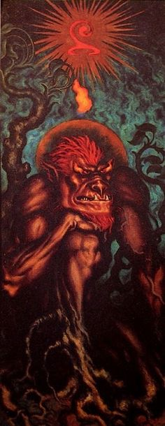 History of Art: Nicholas Kalmakoff Nicholas Roerich, Evil Demons, Classical Mythology, Dreams And Nightmares, Demon Art, Demonology, Call Art, Art Sketchbook, Ancient Art
