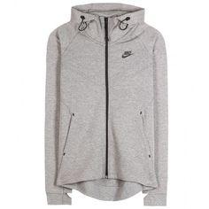 Nike Nike Tech Fleece Cotton-Blend Jacket (150 CAD) ❤ liked on Polyvore featuring outerwear, jackets, hoodies, sweaters, grey, grey jacket, nike, fleece jacket, gray jacket and gray fleece jacket