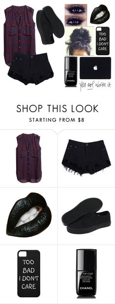 """""""Untitled #275"""" by sadiemay42 ❤ liked on Polyvore featuring H&M, Vans, Chanel and vintage"""