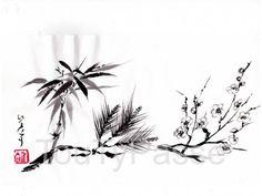 Photo IKEBANA Nicole CHESNEAU  Art Floral Japonais et SUMI-E Peinture Japonaise image 1/5