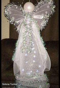 Christmas Lighted Tomato Cage Angel DIY Project : DIY Outdoor Christmas Angel: lighted tomato cage angel, Get creative with dress design Christmas Yard, Christmas Angels, Christmas Tree Ornaments, Christmas Wreaths, Crochet Christmas, Christmas Poinsettia, Angel Ornaments, Victorian Christmas, Vintage Ornaments