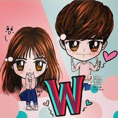 how cute #W #fanart #LeeJongSuk #KangChul #HanHyoJoo #OhYunJoo #koreandrama cr on pict