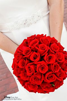I want in BLUE! -Classically stunning red rose bouquet #red #roses #wedding #bouquet