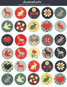 Woodland Fawn Collection 15 inch Circle Digital by DreAmLoft, $2.99