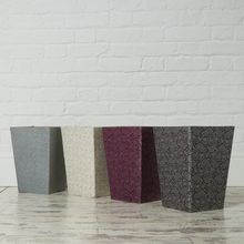 These practical and stylish waste paper bins will brighten up any study or home office area in these eye-catching colours. All our beautiful handmade stationery and storage products are produced in an eco-friendly way, from 100% recycled materials.