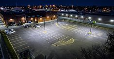 Concept Illumination Supplies and Installs LED Lighting for Retail Building Exterior - Solid State Lighting Design Greenfield Park, Parking Lot Lighting, Building Exterior, Exterior Lighting, Real Estate Investing, Second Floor, Lighting Design, Retail, Energy Consumption