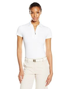 Jofit Womens Jacquard Performance Polo Shirt White Large     Be sure to  check out 41da56833ee