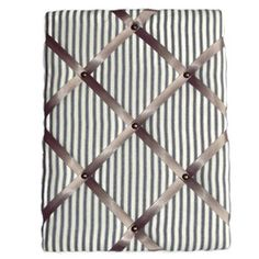 French cotton ticking padded fabric pin board memo board - Personal Space Interiors - beautifully handcrafted home furnishings Fabric Pin Boards, Space Interiors, Personal Space, Ticks, Home Furnishings, French, Contemporary, Retro, Office Ideas