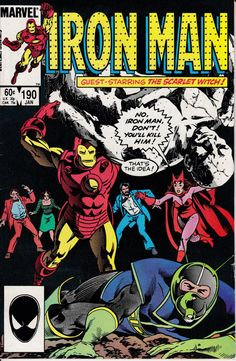 Iron Man 190 January 1985 Issue  Marvel Comics  by ViewObscura